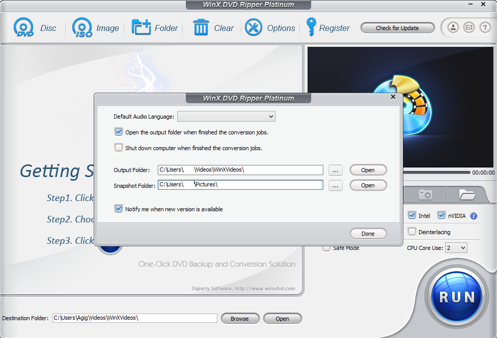 WinX DVD Ripper Platinum 8.20.5 Crack With Product Key [Latest] 2021 Free Download